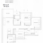 Commonwealth Tower Condo Floor Plan 3 Bedroom Compact