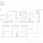 Commonwealth Tower Condo Floor Plan 4 Bedrooms