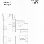 Commonwealth Towers Condo Floor Plan :: 1 Bedroom