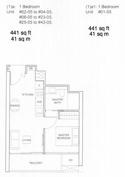 Commonwealth towers condo floor plans queenstown condo for 1 bedroom condo floor plans