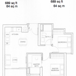 Commonwealth Towers Condo Floor Plan 2 Bedrooms