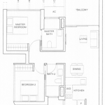 Commonwealth Towers Floor Plan 2 Bedrooms